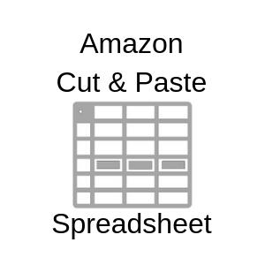 Amazon Cut And Paste Spreadsheet